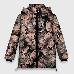 Женская зимняя 3D-куртка с капюшоном с принтом Juice WRLD, цвет: 3D-черный, артикул: 10212957306071 — фото 1
