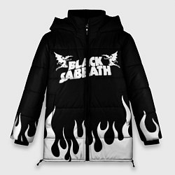 Женская зимняя 3D-куртка с капюшоном с принтом Black Sabbath, цвет: 3D-черный, артикул: 10213958506071 — фото 1