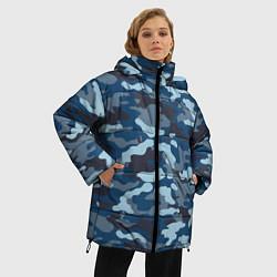 Куртка зимняя женская Камуфляж МВД цвета 3D-черный — фото 2