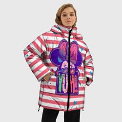 Женская зимняя 3D-куртка с капюшоном с принтом Minnie Mouse YUM!, цвет: 3D-черный, артикул: 10250082506071 — фото 2