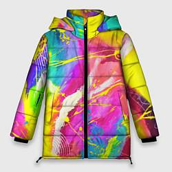 Женская зимняя 3D-куртка с капюшоном с принтом ТИ-ДАЙ, цвет: 3D-черный, артикул: 10254980506071 — фото 1