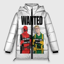 Женская зимняя 3D-куртка с капюшоном с принтом Deadpool, цвет: 3D-черный, артикул: 10275023506071 — фото 1