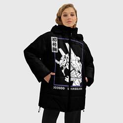 Женская зимняя 3D-куртка с капюшоном с принтом Юнит-01, цвет: 3D-черный, артикул: 10275471706071 — фото 2