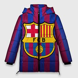 Женская зимняя 3D-куртка с капюшоном с принтом Barcelona, цвет: 3D-черный, артикул: 10063820306071 — фото 1
