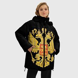 Куртка зимняя женская Герб России: золото - фото 2