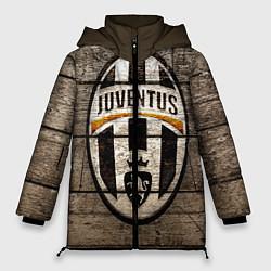 Женская зимняя 3D-куртка с капюшоном с принтом Juventus, цвет: 3D-черный, артикул: 10063903706071 — фото 1