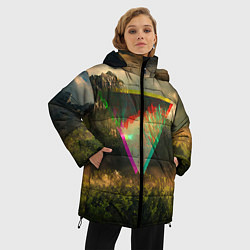 Куртка зимняя женская 30 seconds to mars цвета 3D-черный — фото 2