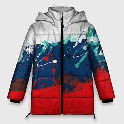 Куртка зимняя женская Триколор РФ цвета 3D-черный — фото 1