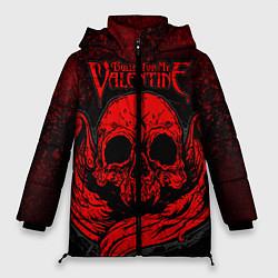 Куртка зимняя женская BFMV: Red Skull цвета 3D-черный — фото 1