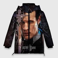 Женская зимняя 3D-куртка с капюшоном с принтом Доктор кто, цвет: 3D-черный, артикул: 10065035006071 — фото 1