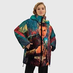 Женская зимняя 3D-куртка с капюшоном с принтом Доктор кто, цвет: 3D-черный, артикул: 10065373406071 — фото 2
