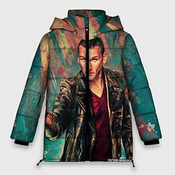 Женская зимняя 3D-куртка с капюшоном с принтом Доктор кто, цвет: 3D-черный, артикул: 10065374006071 — фото 1