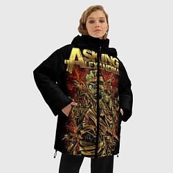 Куртка зимняя женская Asking Alexandria цвета 3D-черный — фото 2