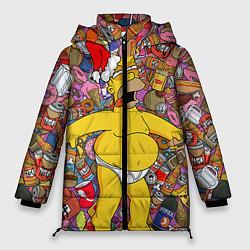 Куртка зимняя женская Обжора Гомер - фото 1