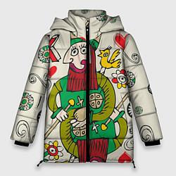 Куртка зимняя женская Червовый король - фото 1