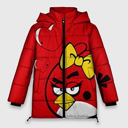 Куртка зимняя женская Птичка цвета 3D-черный — фото 1