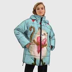 Куртка зимняя женская Котик цвета 3D-черный — фото 2