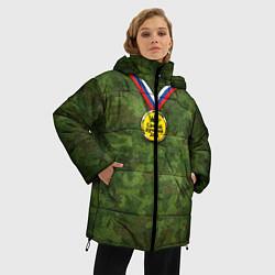 Куртка зимняя женская Самый лучший дед цвета 3D-черный — фото 2