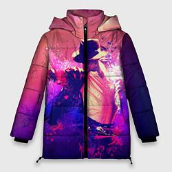 Куртка зимняя женская Michael Jackson: Moon цвета 3D-черный — фото 1