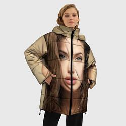 Куртка зимняя женская Анжелина Джоли цвета 3D-черный — фото 2