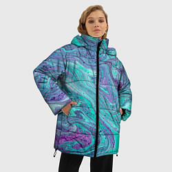 Куртка зимняя женская Смесь красок - фото 2
