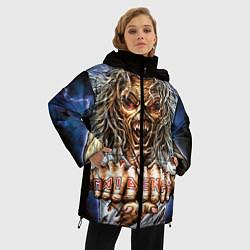Женская зимняя 3D-куртка с капюшоном с принтом Iron Maiden: Maidenfc, цвет: 3D-черный, артикул: 10089881006071 — фото 2