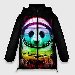 Куртка зимняя женская Панда космонавт цвета 3D-черный — фото 1