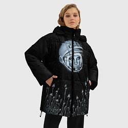 Куртка зимняя женская Гагарин в небе - фото 2