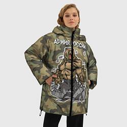 Куртка зимняя женская Армия России: ярость медведя цвета 3D-черный — фото 2