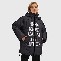 Куртка зимняя женская Keep Calm & Lift On цвета 3D-черный — фото 2