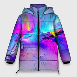 Женская зимняя 3D-куртка с капюшоном с принтом Абстракция, цвет: 3D-черный, артикул: 10093113506071 — фото 1