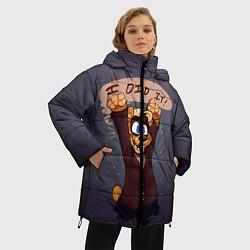 Женская зимняя 3D-куртка с капюшоном с принтом Five Nights: I Did It, цвет: 3D-черный, артикул: 10093561106071 — фото 2