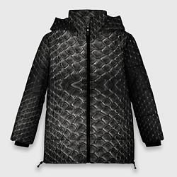 Куртка зимняя женская Черная кожа - фото 1