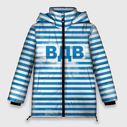 Женская зимняя 3D-куртка с капюшоном с принтом ВДВ, цвет: 3D-черный, артикул: 10098332606071 — фото 1