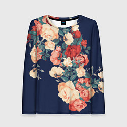 Лонгслив женский Fashion flowers цвета 3D — фото 1