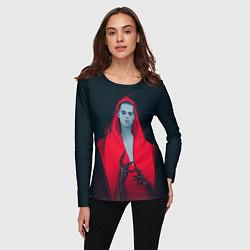Лонгслив женский Red Vamripe цвета 3D-принт — фото 2