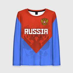 Женский лонгслив Russia Red & Blue