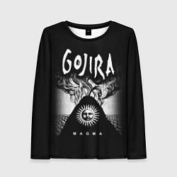 Лонгслив женский Gojira: Magma цвета 3D — фото 1