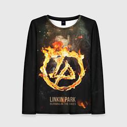 Лонгслив женский Linkin Park: Burning the skies цвета 3D — фото 1