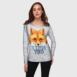 Лонгслив женский Милая лисичка! цвета 3D — фото 2