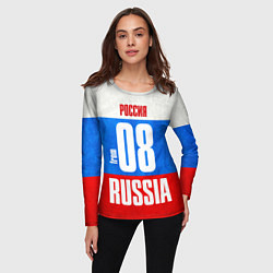 Лонгслив женский Russia: from 08 цвета 3D-принт — фото 2