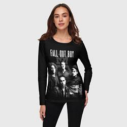 Лонгслив женский Fall out boy band цвета 3D-принт — фото 2