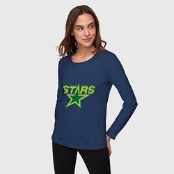 Лонгслив хлопковый женский Dallas Stars цвета тёмно-синий — фото 2