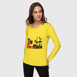Лонгслив хлопковый женский The SexMafia цвета желтый — фото 2