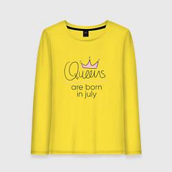 Женский лонгслив Королевы рождаются в июле