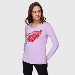 Лонгслив хлопковый женский Detroit Red Wings: Pavel Datsyuk цвета лаванда — фото 2