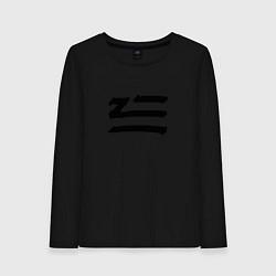 Лонгслив хлопковый женский ZHU цвета черный — фото 1