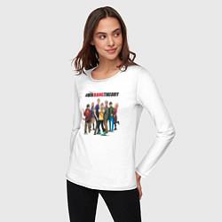 Лонгслив хлопковый женский Heroes of the Big Bang Theory цвета белый — фото 2