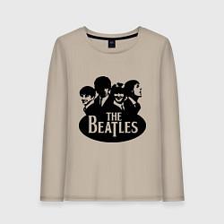 Лонгслив хлопковый женский The Beatles Band цвета миндальный — фото 1