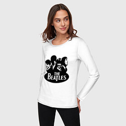 Лонгслив хлопковый женский The Beatles Band цвета белый — фото 2
